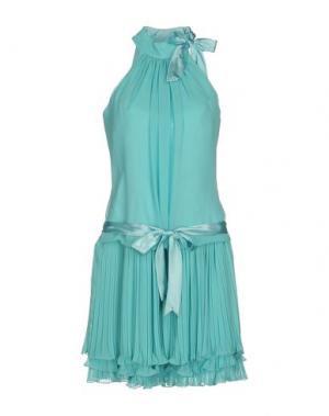 Платье до колена MUSANI COUTURE. Цвет: бирюзовый