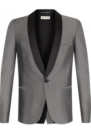 Вечерний пиджак с шалевыми лацканами Saint Laurent. Цвет: золотой