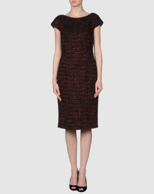 Платье длиной 3/4 AQUILANO-RIMONDI. Цвет: черный