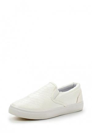 Слипоны WS Shoes. Цвет: белый