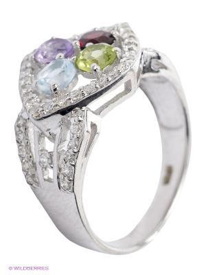 Кольцо BALEX. Цвет: серебристый, сиреневый, красный, светло-зеленый, голубой