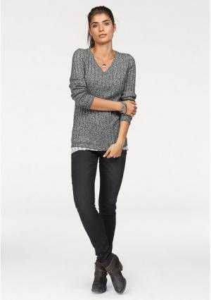 Пуловер BOYSENS BOYSEN'S. Цвет: серый меланжевый