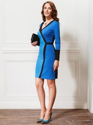 Платье La vida rica. Цвет: голубой, черный