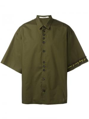 Свободная рубашка Damir Doma. Цвет: зелёный