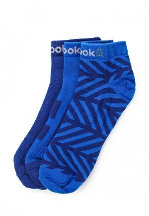Комплект носков 3 пары Reebok. Цвет: синий