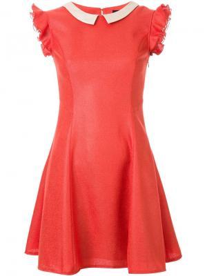 Расклешенное платье Loveless. Цвет: жёлтый и оранжевый