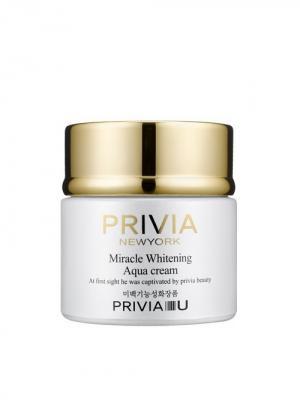 Антивозрастной ночной крем  PRIVIA MIRACLE WHITENING AQUA CREAM 80 ml PRIVIA&U. Цвет: белый