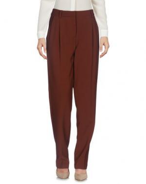 Повседневные брюки LA FEE MARABOUTEE. Цвет: коричневый