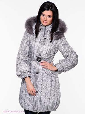 Пальто Alisa Line. Цвет: серый