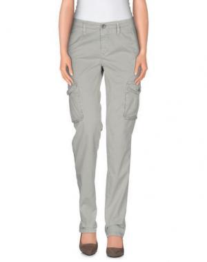 Повседневные брюки WHITE*. Цвет: светло-зеленый