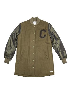 Пальто Long MA-1 Baseball Jacket Converse. Цвет: зеленый