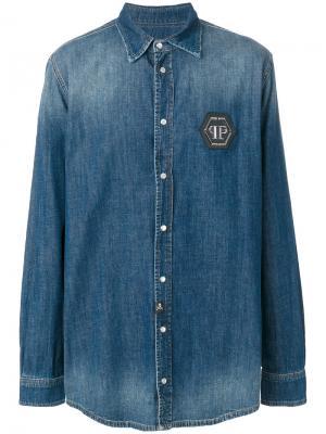 Джинсовая рубашка Eisuche Philipp Plein MDP0029PDE001N12217490