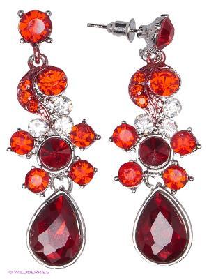 Серьги Royal Diamond. Цвет: красный