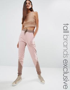 One Day Tall Спортивные штаны с контрастными вставками. Цвет: мульти