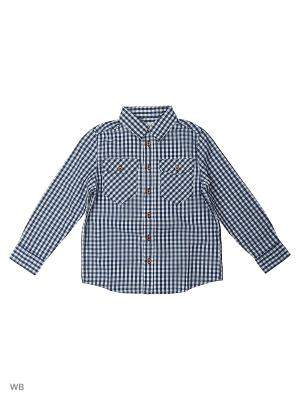 Сорочка Button Blue. Цвет: темно-синий