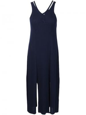 Платье с разрезами спереди Tess Giberson. Цвет: синий