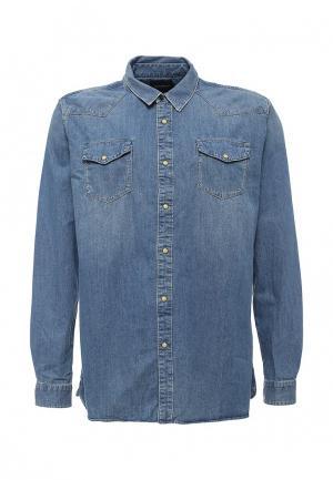 Рубашка джинсовая Scotch&Soda. Цвет: синий