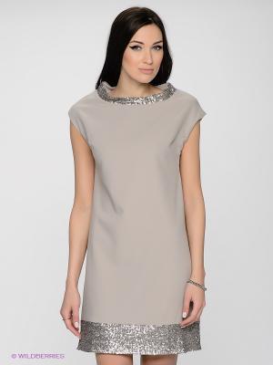 Платье LUIGI FERRO. Цвет: светло-бежевый