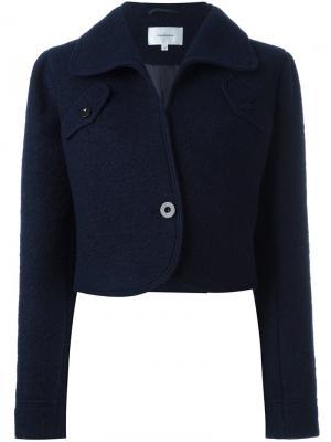 Укороченная куртка Carven. Цвет: синий
