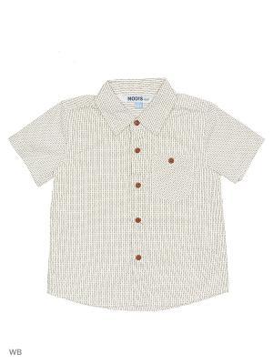 Рубашка Modis. Цвет: молочный, бежевый