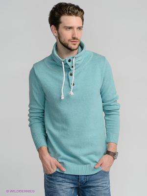 Свитер Solid. Цвет: серо-голубой
