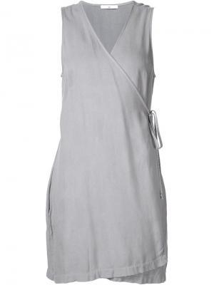Мини-платье с запахом 321. Цвет: серый