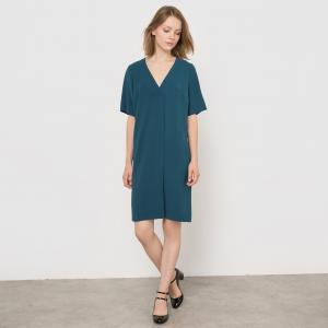 Платье из струящейся ткани La Redoute Collections. Цвет: хаки
