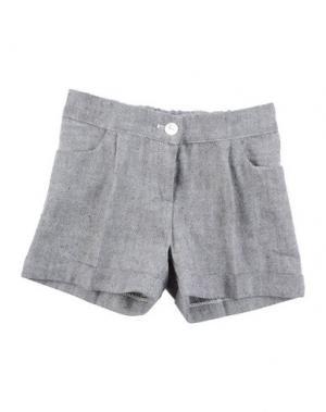 Повседневные шорты LA STUPENDERIA. Цвет: серый