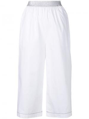 Укороченные широкие брюки  IM Isola Marras I'M. Цвет: белый