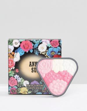 Anna Sui Румяна-хайлайтер Face Colour. Цвет: розовый