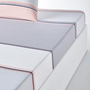 Простыня натяжная из хлопка с рисунком, NAYMA La Redoute Interieurs. Цвет: серый/розовая пудра
