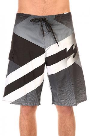 Шорты пляжные  Slice 21 Black Billabong. Цвет: серый,черный