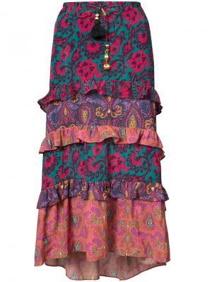 Юбка Sarita Figue. Цвет: розовый и фиолетовый