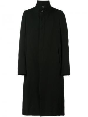 Однобортное пальто Poème Bohémien. Цвет: чёрный