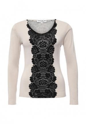 Пуловер Passioni. Цвет: бежевый