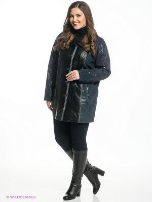 Пальто X'cluSIve. Цвет: темно-синий, черный