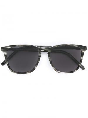 Солнцезащитные очки в квадратной оправе Tomas Maier Eyewear. Цвет: чёрный