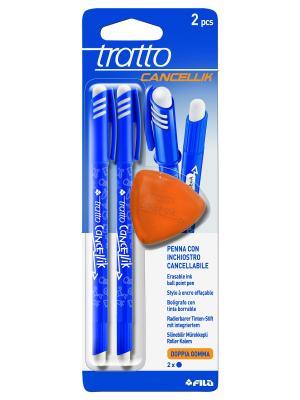 Tratto cancellik шариковая ручкапиши-стирайсиняя,2шт в блистере+ластик FILA. Цвет: синий, белый