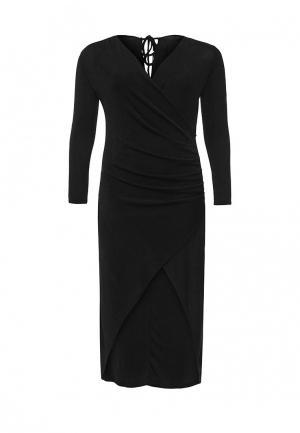 Платье LOST INK CURVE. Цвет: черный