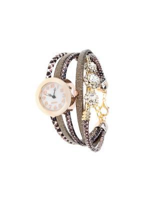 Браслет-часы Olere. Цвет: золотистый, бронзовый, коричневый