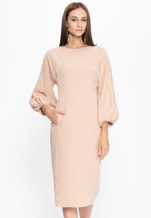 Платье Cavo. Цвет: бежевый