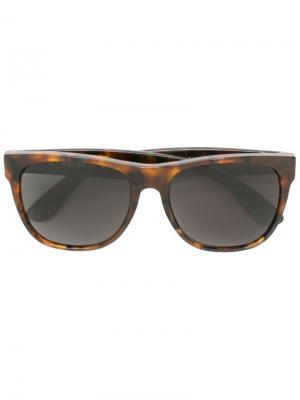 Солнцезащитные очки Large Classic Havana Retrosuperfuture. Цвет: коричневый