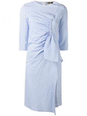 Полосатое платье Hache. Цвет: синий