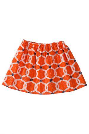Юбка DAPPLE GRAY DESIGNS. Цвет: оранжевый