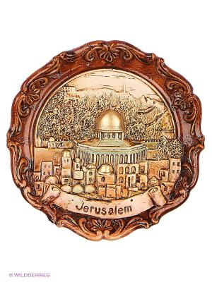 Тарелка Иерусалим 3D Bethlehem Star. Цвет: коричневый