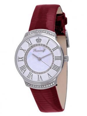 Часы наручные Romanoff. Цвет: темно-красный, белый, серебристый