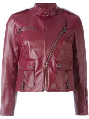 Укороченная байкерская куртка Marc Jacobs. Цвет: красный