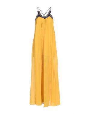 Длинное платье ROBERTO CAVALLI. Цвет: охра