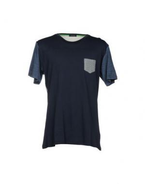 Футболка +39 MASQ. Цвет: темно-синий
