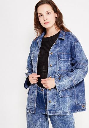 Куртка джинсовая Vika Smolyanitskaya. Цвет: синий